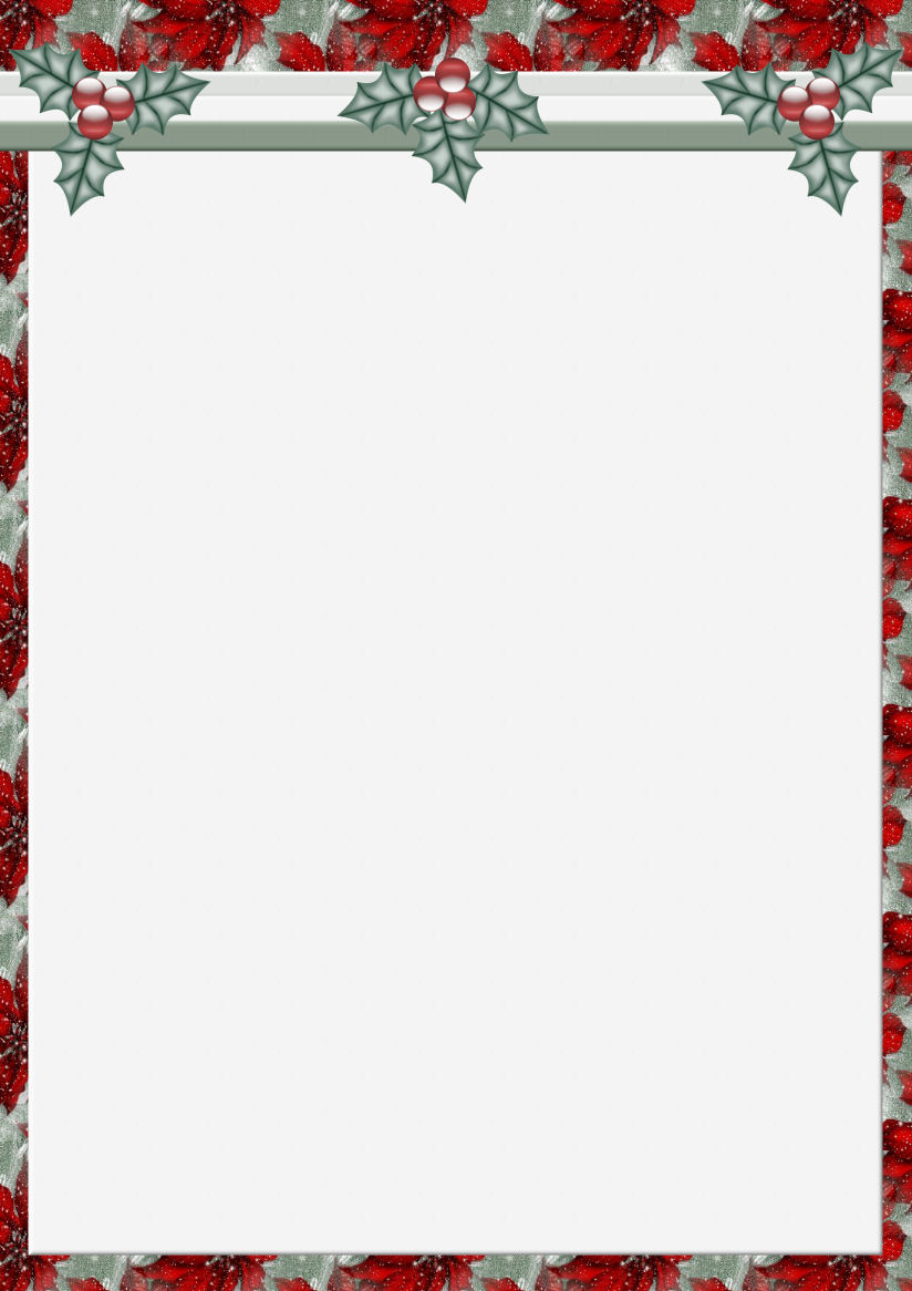 A4 Christmas Theme FREE Stationery Pg. 1