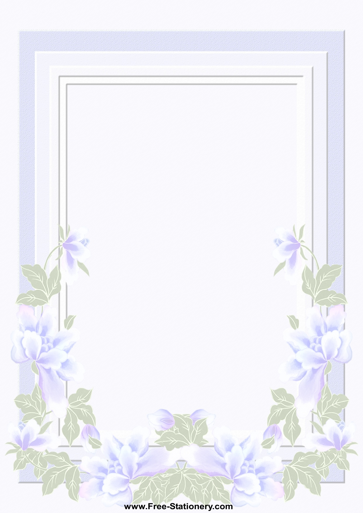 A4 Wedding Day Stationery Page 1