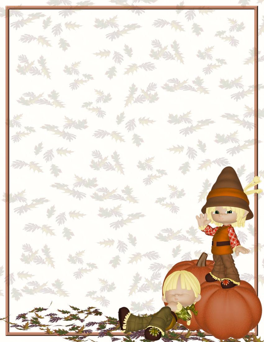 fall stationary template