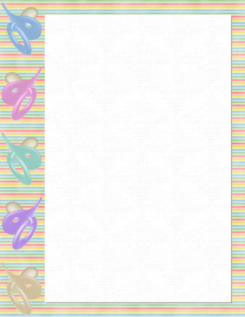 baby stationery template