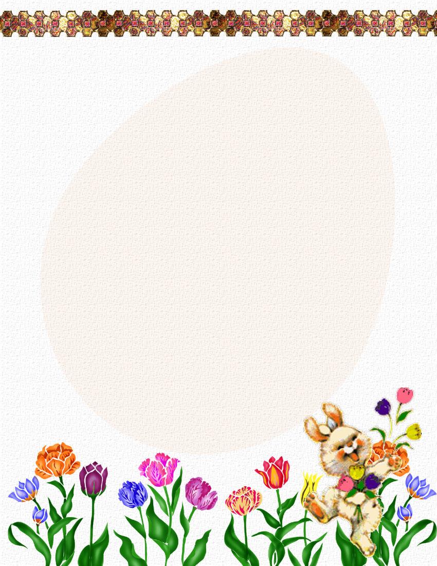 Easter Stationery Theme FREE Digital Stationery