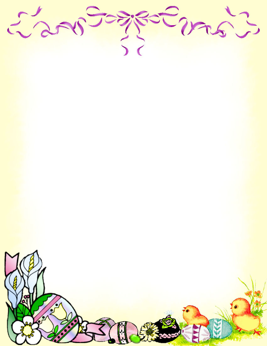 Easter Stationery Theme FREE Digital Stationery