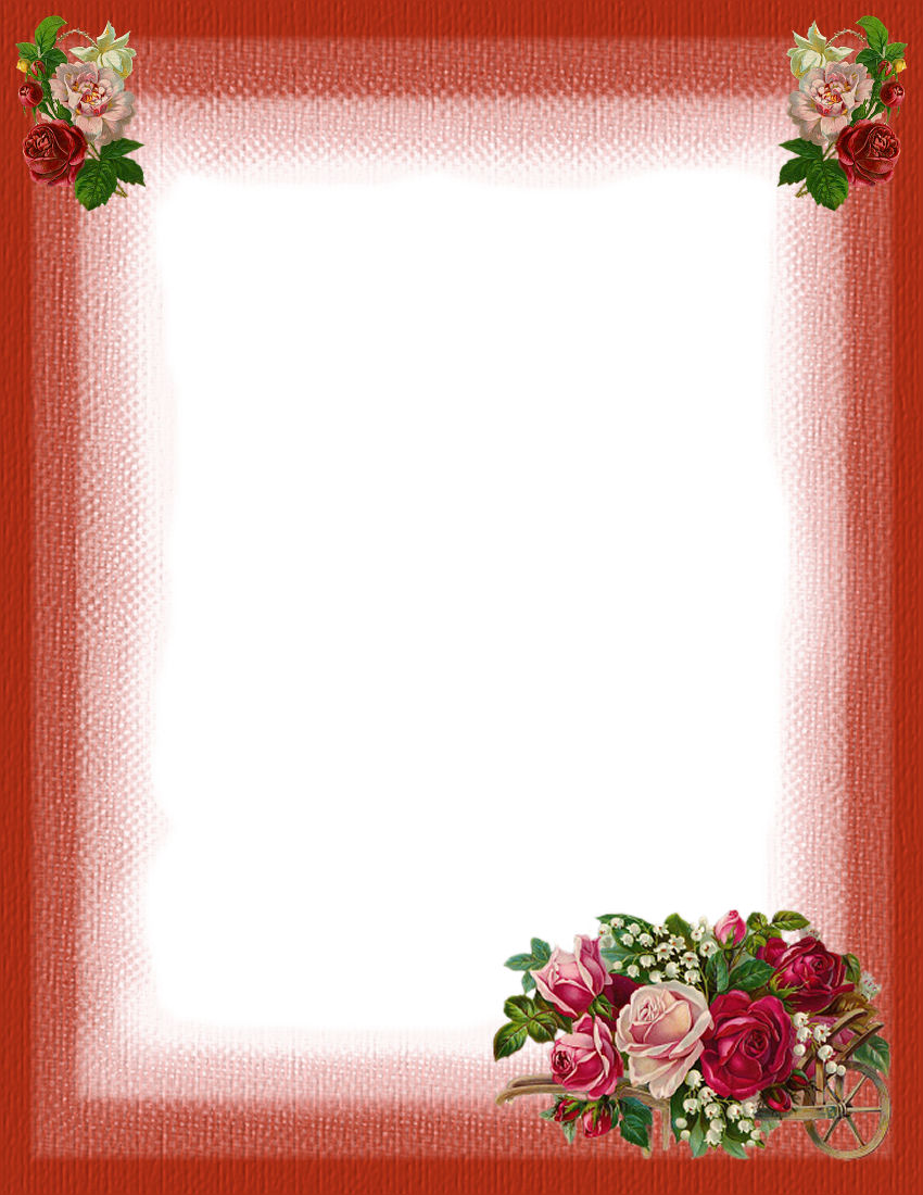 floral stationery theme free page 2