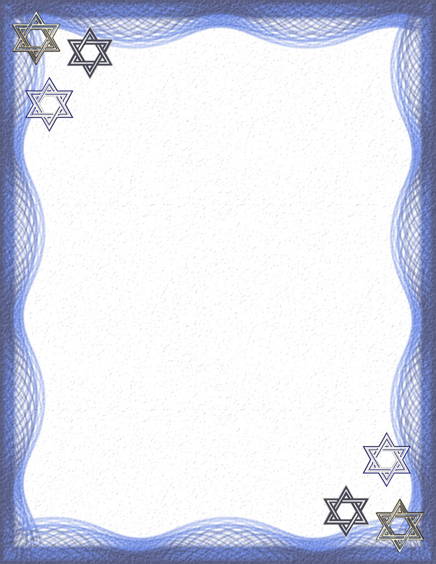 Hanukkah 1 stationery theme free digital stationary for Themed printer paper