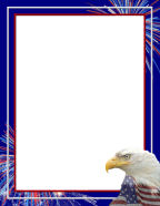 Eagle Themed Stationery Flying The Flag And Colors