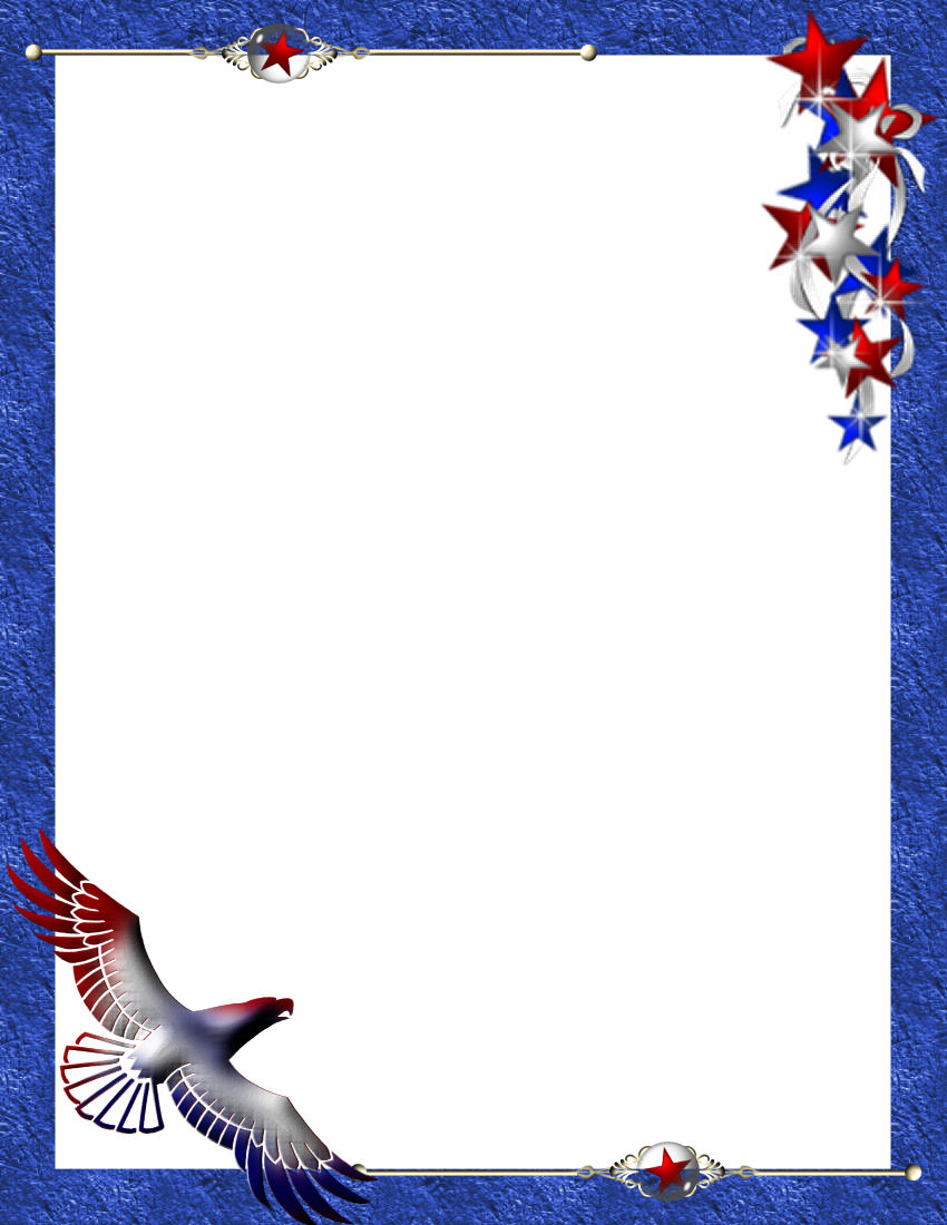 patriotic stationery themes page 1