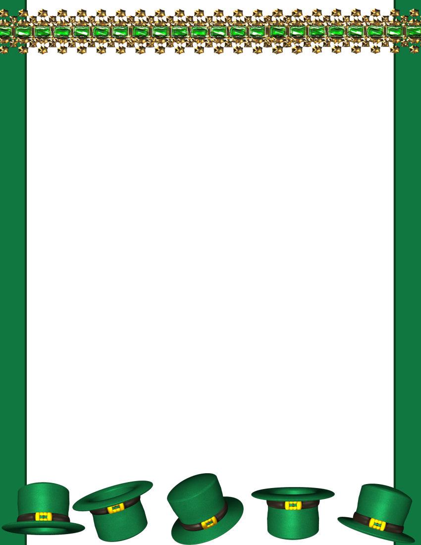 st patrick u0027s day stationery tempate page 1