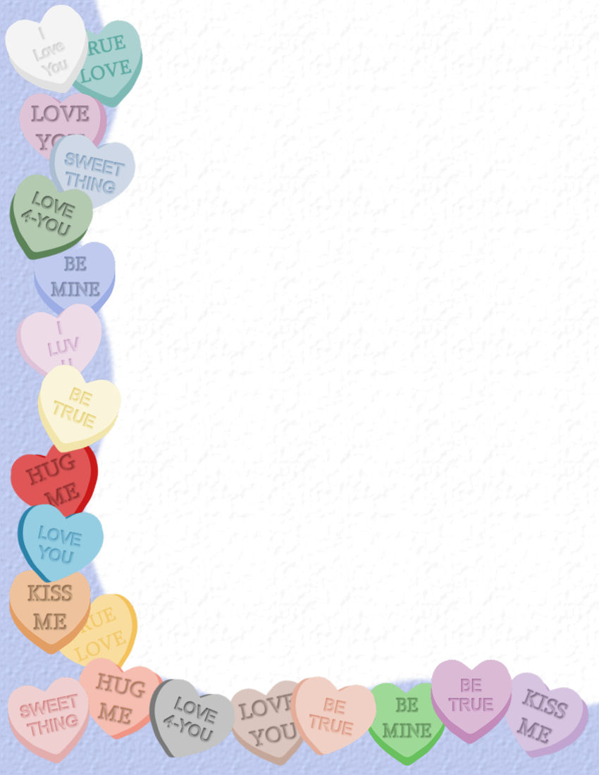 Valentines Day Stationery Theme Page 3
