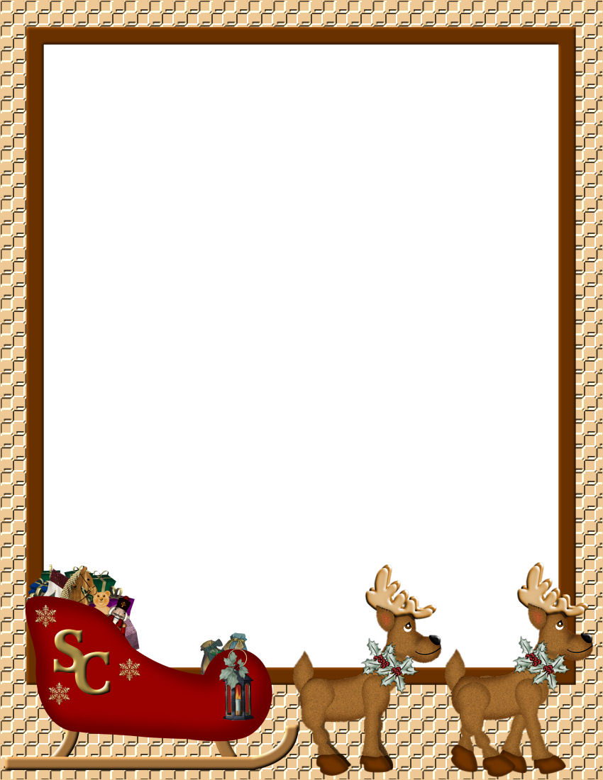 christmas letter borders for word Enom warb